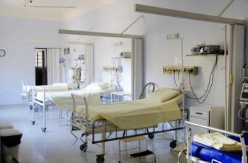 Imagem mostra leitos de hospital