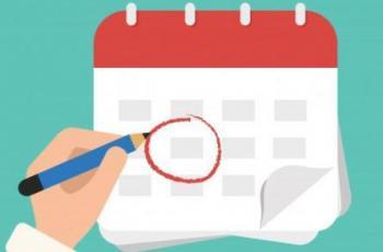 Imagem mostra ilustração de calendário